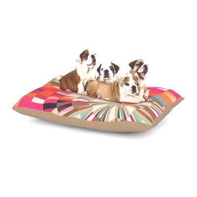 Danny Ivan Convoke Geometric Dog Pillow with Fleece Cozy Top Size: Small (40 W x 30 D x 8 H)