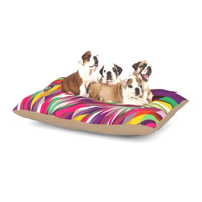 Danny Ivan Sweet Geometric Dog Pillow with Fleece Cozy Top Size: Large (50 W x 40 D x 8 H)