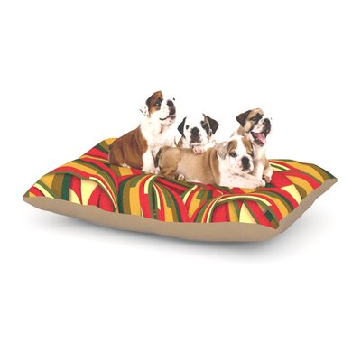 Danny Ivan Excited Christmas Dog Pillow with Fleece Cozy Top Size: Large (50 W x 40 D x 8 H)