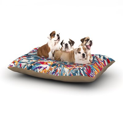 Danny Ivan Excited Colours Abstract Dog Pillow with Fleece Cozy Top Size: Large (50 W x 40 D x 8 H)