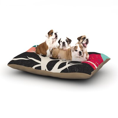 Danny Ivan Lovely Tree Branches Dog Pillow with Fleece Cozy Top Size: Small (40 W x 30 D x 8 H)