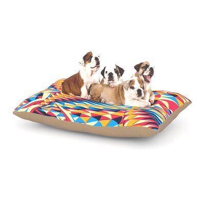 Danny Ivan Painting Life Abstract Dog Pillow with Fleece Cozy Top Size: Small (40 W x 30 D x 8 H)