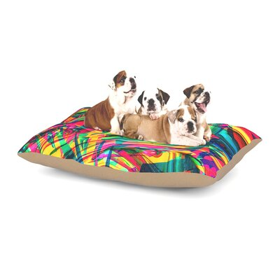 Danny Ivan Wild Abstract Illustration Dog Pillow with Fleece Cozy Top Size: Small (40 W x 30 D x 8 H)
