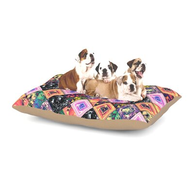 Danny Ivan Never Run Away Geometric Dog Pillow with Fleece Cozy Top Size: Small (40 W x 30 D x 8 H)