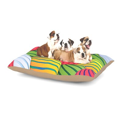 Danny Ivan Melons Dog Pillow with Fleece Cozy Top Size: Small (40 W x 30 D x 8 H)