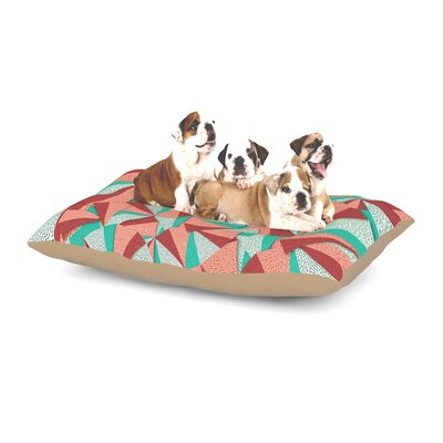 Danny Ivan Marsala Dog Pillow with Fleece Cozy Top Size: Large (50 W x 40 D x 8 H)