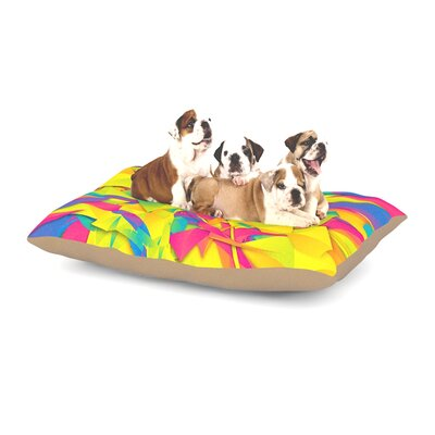 Danny Ivan Bubble Gum Explosion Dog Pillow with Fleece Cozy Top Size: Large (50 W x 40 D x 8 H)