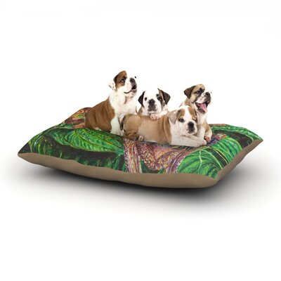 David Joyner Frogs Dog Pillow with Fleece Cozy Top Size: Large (50 W x 40 D x 8 H)