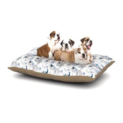 Danii Pollehn Peacock Fun Dog Pillow with Fleece Cozy Top Size: Small (40 W x 30 D x 8 H)