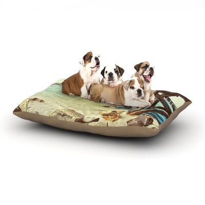 Debbra Obertanec On the Pier Beach Dog Pillow with Fleece Cozy Top Size: Small (40 W x 30 D x 8 H)