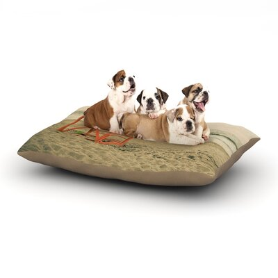 Debbra Obertanec Dusk At the Beach Ocean Dog Pillow with Fleece Cozy Top Size: Small (40 W x 30 D x 8 H)