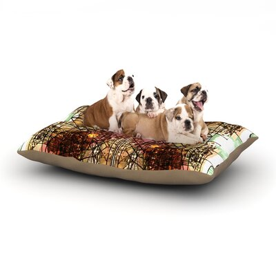 Danii Pollehn Viereck Geometric Dog Pillow with Fleece Cozy Top Size: Small (40 W x 30 D x 8 H)