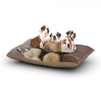 Debbra Obertanec Jar of Wishes Fuzzy Dog Pillow with Fleece Cozy Top Size: Large (50 W x 40 D x 8 H)