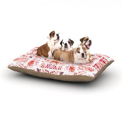 Danii Pollehn Scandanavian Square Dog Pillow with Fleece Cozy Top Size: Large (50 W x 40 D x 8 H), Color: Pink/Red