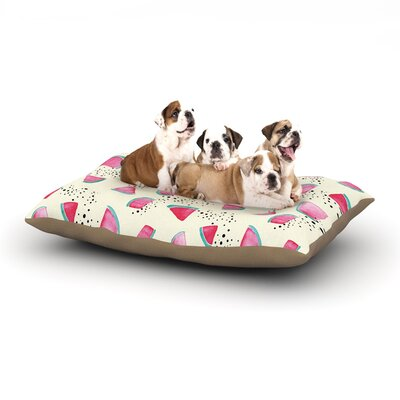 Danii Pollehn Watermelon Food Dog Pillow with Fleece Cozy Top Size: Large (50 W x 40 D x 8 H)