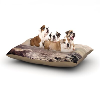 Debbra Obertanec Rocky Coast Sea View Dog Pillow with Fleece Cozy Top Size: Small (40 W x 30 D x 8 H)