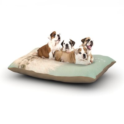 Debbra Obertanec Wishes are Dreams Fuzzy Dog Pillow with Fleece Cozy Top Size: Large (50 W x 40 D x 8 H)