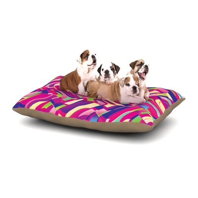 Dawid Roc Colorful Movement Abstract Dog Pillow with Fleece Cozy Top Size: Large (50 W x 40 D x 8 H)