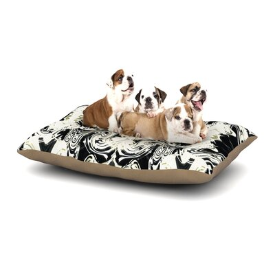 Dawid Roc THe Palace Walls III Abstract Dog Pillow with Fleece Cozy Top Size: Small (40 W x 30 D x 8 H)