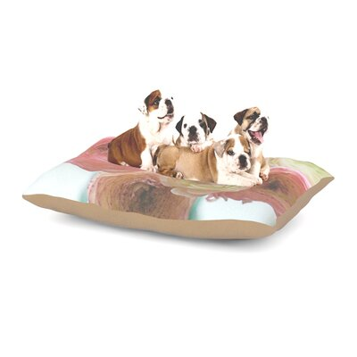 Debbra Obertanec 'Pastel Ranunculus' Dog Pillow with Fleece Cozy Top Size: Large (50