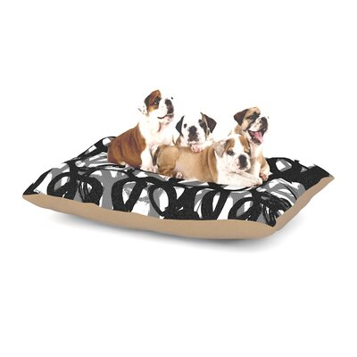 Emine Ortega Rhythm Dog Pillow with Fleece Cozy Top Size: Large (50 W x 40 D x 8 H)