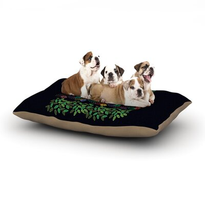 Famenxt Dark Jungle Dog Pillow with Fleece Cozy Top Size: Large (50 W x 40 D x 8 H)