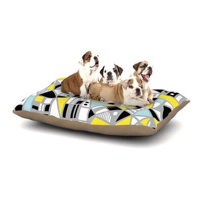 Emine Ortega Fun Geo Too Dog Pillow with Fleece Cozy Top Size: Small (40 W x 30 D x 8 H)