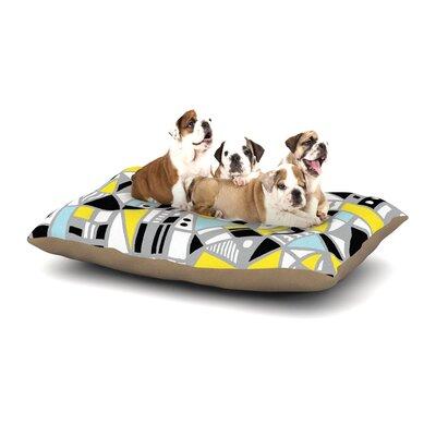 Emine Ortega Fun Geo Too Dog Pillow with Fleece Cozy Top Size: Large (50 W x 40 D x 8 H)