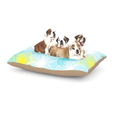Emine Ortega Aqua Sunshine Dog Pillow with Fleece Cozy Top Size: Small (40 W x 30 D x 8 H)