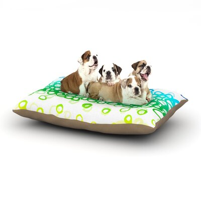 Emine Ortega Pebble Row Dog Pillow with Fleece Cozy Top Size: Small (40 W x 30 D x 8 H)