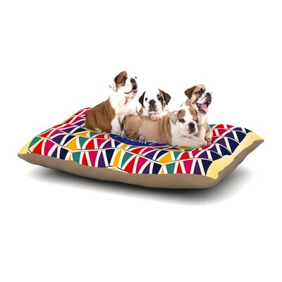 Famenxt Stay Awake Dog Pillow with Fleece Cozy Top Size: Large (50 W x 40 D x 8 H)