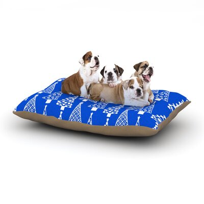 Emine Ortega Jolly Trees Dog Pillow with Fleece Cozy Top Size: Small (40 W x 30 D x 8 H), Color: Blue