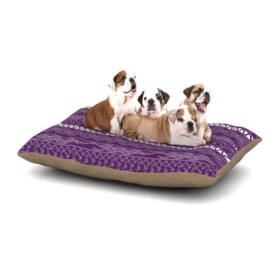 Famenxt Pattern Dog Pillow with Fleece Cozy Top Size: Small (40 W x 30 D x 8 H), Color: Purple/Lavender