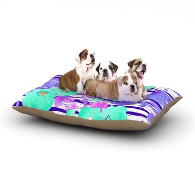 Emine Ortega Cherry Blossom Dog Pillow with Fleece Cozy Top Size: Small (40 W x 30 D x 8 H)