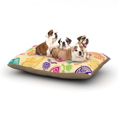 Emine Ortega Namaste Floral Abstract Dog Pillow with Fleece Cozy Top Size: Small (40 W x 30 D x 8 H)