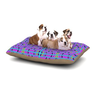 Fernanda Sternieri Optical Paisley Dog Pillow with Fleece Cozy Top Size: Large (50 W x 40 D x 8 H)