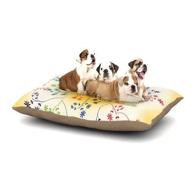 Famenxt Romantic Heart Dog Pillow with Fleece Cozy Top Size: Large (50 W x 40 D x 8 H)