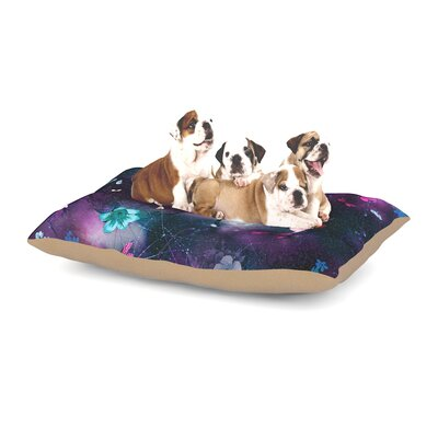 Fernanda Sternieri Fairy Tale Floral Dog Pillow with Fleece Cozy Top Size: Small (40 W x 30 D x 8 H)