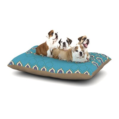 Fernanda Sternieri Happy Path Dog Pillow with Fleece Cozy Top Size: Large (50 W x 40 D x 8 H)