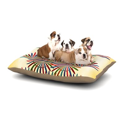 Famenxt Colorful Abstract Dog Pillow with Fleece Cozy Top Size: Small (40 W x 30 D x 8 H)