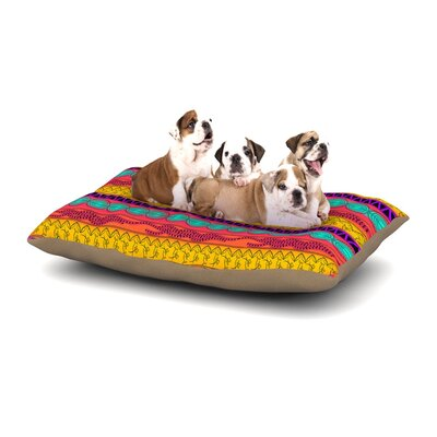 Famenxt Pattern Dog Pillow with Fleece Cozy Top Size: Small (40 W x 30 D x 8 H), Color: Multi