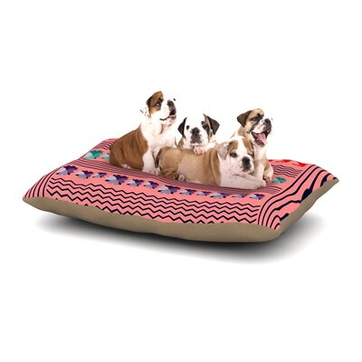 Famenxt Romantic Love Abstract Dog Pillow with Fleece Cozy Top Size: Small (40 W x 30 D x 8 H)
