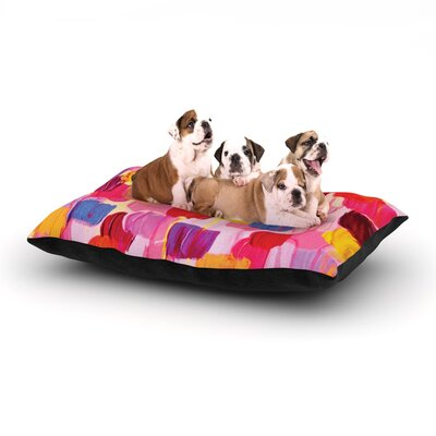 Ebi Emporium Dotty in Pink Dog Pillow with Fleece Cozy Top Size: Large (50 W x 40 D x 8 H)