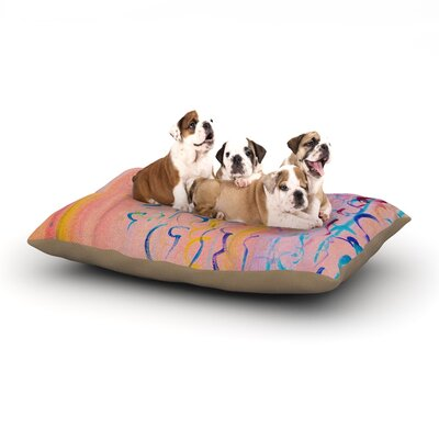 Ebi Emporium 'Cotton Candy Whispers' Painting Dog Pillow with Fleece Cozy Top Size: Large (50