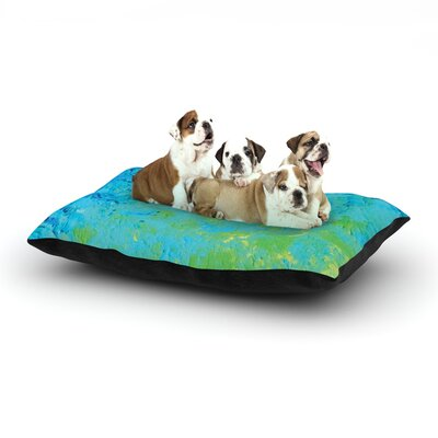 Ebi Emporium True Reflection Dog Pillow with Fleece Cozy Top Size: Large (50 W x 40 D x 8 H)