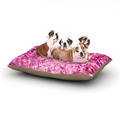 Ebi Emporium Romance Me Glitter Dog Pillow with Fleece Cozy Top Size: Large (50 W x 40 D x 8 H)