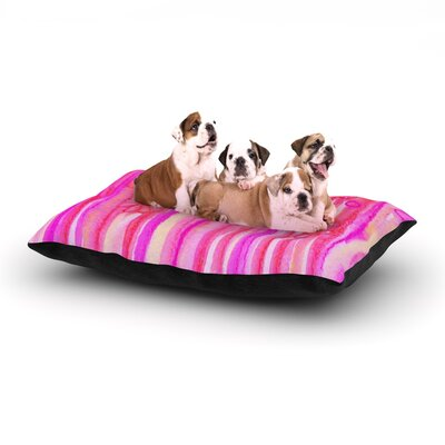 Ebi Emporium Spring Sensations Magenta Dog Pillow with Fleece Cozy Top Size: Small (40 W x 30 D x 8 H)