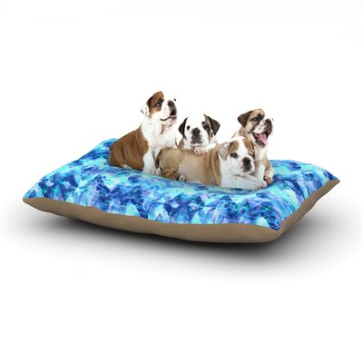 Ebi Emporium Cest La Vie Revisited Dog Pillow with Fleece Cozy Top Size: Large (50 W x 40 D x 8 H)