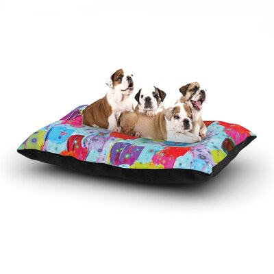 Ebi Emporium Speckle Me Dotty Dog Pillow with Fleece Cozy Top Size: Small (40 W x 30 D x 8 H)