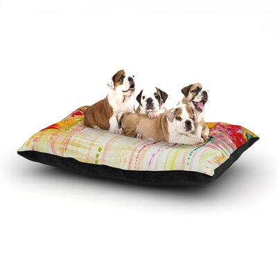 Ebi Emporium Stormy Moods Dog Pillow with Fleece Cozy Top Size: Small (40 W x 30 D x 8 H)